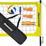 Beachvolleyball Netz Professionelles Volleyball Netz Set Standard 9.5m x 1m,Faltbar,Höhenverstellbarm umfassen Volleyball und Tragetasche,für Federball,Tennis,Outdoor,Hinterhof, Parks, Strände
