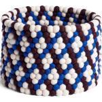 Bead Basket Korb Burgundy Basket Weave Hay