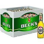 BECK'S Gold Lager Flaschenbier, MEHRWEG (24 x 0.33 l) im Kasten, Pils / Lager Bier