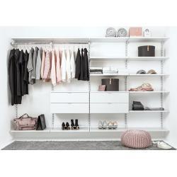 Begehbarer Kleiderschrank individualisierbar - WALK-IN Schranksystem 330x200x45 cm weiß | Regalsystem Ankleidezimmer konfigurieren