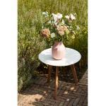 Weiße Siena Garden Beistelltische & Ablagetische aus Massivholz Höhe 0-50cm