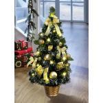 Beleuchteter Weihnachtsbaum Grün-Gold