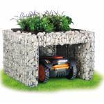 bellissa Mährobotergarage, bepflanzbar, Igelhaus, Tier-Unterschlupf Garten-Höhle Bepflanzbare Rasenmäher-Garage mit Pflanzschale - 75 x 75 x 53 cm