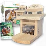 BellMietz® geliebtes Eichhörnchen Futterhaus [extra sicher & stabil]   Eichhörnchenhaus mit innovativem Belüftungssystem für trockenes Futter   Erprobtes Design Futterhaus für Eichhörnchen