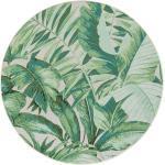 benuta Hochflor Shaggyteppich rund Artis Grün ø 160 cm rund - Langflor Teppich für Wohnzimmer