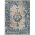 benuta In- & Outdoor-Teppich Antique Beige/Blau 80x150 cm - für Balkon, Terrasse & Garten
