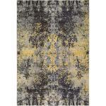 benuta Teppich Casa Anthrazit/Gelb 160x230 cm - Vintage Teppich im Used-Look