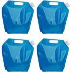 BESPORTBLE 4 STÜCKE 5L Wassersäcke Faltbare Trinkwasser Tasche Faltbare Wassertank Container Wasserträger für Sport Radfahren Camping Wandern Reiten - Blau