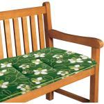 Best Freizeitmöbel Bankauflage Bregenz 37x4x145 cm (BxHxT) Grün Geblümt Webstoff
