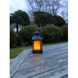 Best Season LED-Laterne in Schwarz - (B)10 x (H)20 x (T)10 cm | Größe onesize