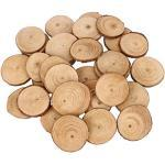 Bestoyard 30 Stück Holzscheiben rund Holzscheiben Kreise für Handwerk DIY Hochzeit Tafelaufsatz 4–5 cm