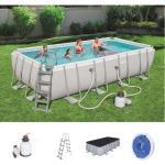 Bestway International Limited - Bestway Power Steel™ Frame Pool Komplett-Set, eckig 549x274x122 cm 56466