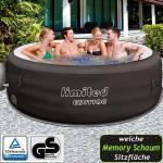Bestway LAY-Z-SPA Whirlpool Jacuzzi Pool inkl. Massagefunktion 196x196x61 cm (713,99 € pro 1 stk.)