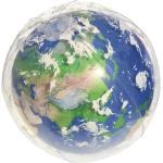 BESTWAY Wasserball Erde mit LED-Licht, Ø 61 cm Wasserspielzeug, Mehrfarbig