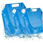 BESTZY 3Pcs Faltbarer Wasserkanister 10L+5L+5L Wasserbehälter Outdoor Faltschüssel Tragbar Faltbarer Trinkwasser Behälter für Wandern Camping Picknick Reise BBQ,[PE Plastik] [BPA Frei]