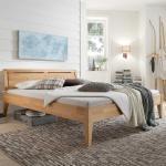 Bett aus Buche Massivholz 85 cm Kopfteil