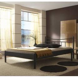 Bett in Schwarz pulverbeschichtet Eisen