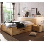 Bett mit Schubladen Kernbuche Massivholz