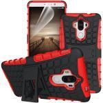 betterfon   Outdoor Handy Tasche Hybrid Case Schutz Hülle Panzer TPU Silikon Hard Cover Bumper für Huawei Mate 9 Rot