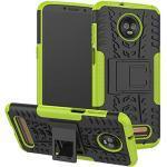 betterfon | Outdoor Handy Tasche Hybrid Case Schutz Hülle Panzer TPU Silikon Hard Cover Bumper für Motorola Moto Z3 Play Grün