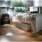 Weiße Nachhaltige Betten-ABC Betten mit Bettkasten lackiert aus Fichte 140x200