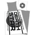 Bettwäsche »Death Star Star Wars«, Walt Disney, mit Schrift und Muster, weiß
