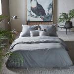 Bettwäsche Walra Vintage Cotton Elephant Grey Baumwolle-155 x 220 cm