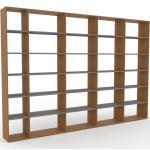 Bibliotheksregal Eiche, Holz - Individuelles Regal für Bibliothek: Einzigartiges Design - 339 x 233 x 35 cm, konfigurierbar