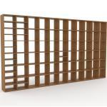 Bibliotheksregal Eiche, Holz - Individuelles Regal für Bibliothek: Einzigartiges Design - 426 x 233 x 35 cm, konfigurierbar