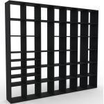 Bibliotheksregal Schwarz - Individuelles Regal für Bibliothek: Einzigartiges Design - 272 x 233 x 35 cm, konfigurierbar