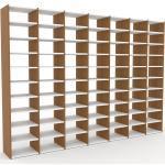Bibliotheksregal Weiß - Individuelles Regal für Bibliothek: Einzigartiges Design - 272 x 195 x 35 cm, konfigurierbar