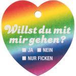 Bierdeckel Herz Regenbogen
