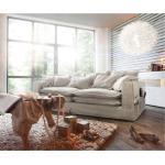 Big Sofa Noelia Elfenbeinfarben 240x145 cm mit Kissen Hussensofa Sofa Couch