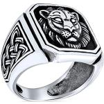 Nickelfreie Silberne Vintage Bling Jewelry Rechteckige Sternzeichen-Ringe mit Sternzeichen-Motiv handgemacht für Herren