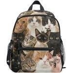 BIGJOKE Kinder Rucksack bunt, Cartoon-Motiv Katzen-Motiv, Schulranzen, Schulranzen, Vorschulen, Kindergarten für Mädchen Jungen und Kinder
