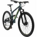 BIKESTAR Aluminium Fully Mountainbike Shimano 21 Gang, Scheibenbremse | 27 Zoll MTB Vollgefedert | Blau