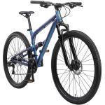 BIKESTAR Aluminium Fully Mountainbike Shimano 21 Gang, Scheibenbremse | 29 Zoll MTB Vollgefedert | Blau