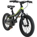 BIKESTAR Kinder Fahrrad Alu Mountainbike V-Bremse ab 4 - 5 Jahre | 16 Zoll | Schwarz & Grün