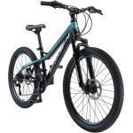 BIKESTAR Kinderfahrrad Mountainbike 24 Zoll ab 9 - 14 Jahre | Hardtail MTB | Schwarz Blau