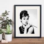 Bild Audrey Hepburn Smoking