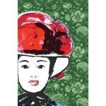 Bild auf Leinwand Gesicht rot Rosen 40 x 60 cm