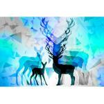Bild Hirsch + Reh blau LP44-B 50 x 75 cm Leinwand
