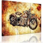 Bilderdepot24 Leinwandbild »Motorrad Vintage«, Fahrzeuge, 3-teilig - Fahrzeuge