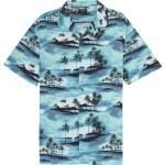 Aquablaue Kurzärmelige Billabong Hawaiihemden für Herren Übergrößen