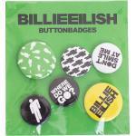 Billie Eilish - Stickman Pack Of 5 - Buttons -