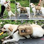 binky Rucksäcke aus Baumwollleinen für Hunde, Reisen, Camping, Wandern, Satteltasche für mittelgroße und große Hunde