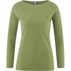 Bio-Baumwolle Langarm Shirt Hilla von Living Crafts 279 avocado L