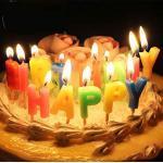 BJ-SHOP Geburtstagskerzen Geburtstag Kuchen Kerzen Happy Birthday Alphabet Kerzen Für Kuchendeckel Kuchendekoration