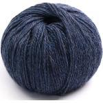 Blauer metallischer Wollball