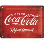 Blechschild Coca-Cola Logo 15x20 cm